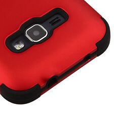 SAMSUNG GALAXY EXPRESS 3 LUNA RED BLACK 3PCS SHOCKPROOF CASE TUFF COVER