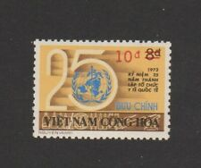 """1975 South Vietnam Provisional Surcharges Stamps """"Two Bars in Red """" Sc # 515 MNH"""