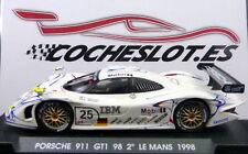 """PORSCHE 911 GT1 """"Le Mans 98""""  2ºBlanco-rojo  """"MOBIL 1"""" - Nº 25 REF.A72 FLY"""