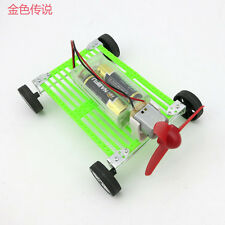 DIY Assembles Toy Motor Propeller Wind Power Car DIY for Kids 8*11*15cm 4WD