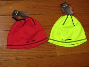 NWT 2 boys UNDER ARMOUR Beanies Winter hats INFRARED Sz Medium 4-6 years $44 Val