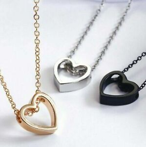 """Fashion Women Heart  Pendant Charm Necklace Jewelry w/ 19"""" Stainless Steel Chain"""
