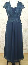 BNWT Jacques Vert Petite Lace & Chiffon Long Maxi Evening Dress Size 12 RRP £229