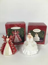 Barbie Holiday Ornaments x2 Vintage1997 Keepsake Ornaments Collector's Series