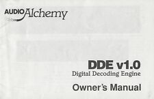 Audio Alchemy DDE v1.0 Original Owners Manual