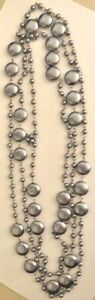 """Premier Designs Jewelry Marina 72"""" Necklace Faux & Coin Pearls"""