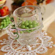 Dollhouse Miniature Dining Room Set Glass Transparent Dessert Pot Grape&Tablemat