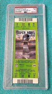 SUPER BOWL XLIII FULL TICKET - PSA 9 MINT - GREEN VAR - PITTSBURGH - CARDS - NFL