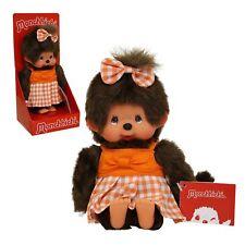 Monchhichi Mädchen mit Sommerkleid in orange Puppe Monchichi 20 cm