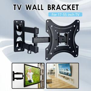 Full Motion TV Wall Mount Bracket Swivel Tilt 17 22 25 30 32 37 40 50 55 LED LCD