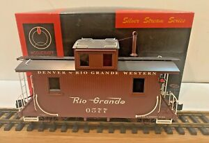 ACCUCRAFT SILVER STREAM AC-124 1:20.3 SCALE BRASS D&RGW #577 WOOD CABOOSE
