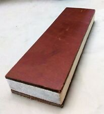 """Strop Block Leather two sided Sharpening Strop 8"""" X 2.5"""" smooth and suede sides"""
