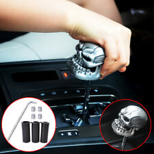 Universal Silver Manual Stick Operation Car Gear Shift Knob Lever Resin Skull