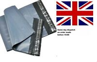 """Grey Plastic Polythene Poly Mailing Mail Bags Postal Envelopes Size 9X12"""" Inch"""