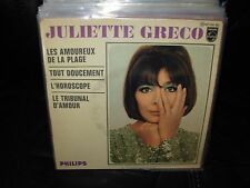 """JULIETTE GRECO les amoureux de la plage ( world music ) 7""""/45 picture sleeve ep"""