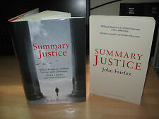 John Fairfax Summary Justice Signed 1st + proof William Brodrick legal thriller