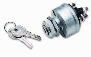 Lot of 10 ea Ignition Switch Heavy Duty 4 Position Keyed Alike Aluminum Bezel ms
