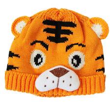 1x Baby Girls Boys Kids Toddlers Crochet Knit Cute Tiger Hat Cap Beanie Bonnet