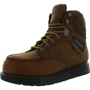 """Wolverine Mens Hellcat 6"""" Wedge Brown Work Boots 9 Extra Wide (E+, WW) BHFO 9293"""