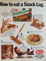 Lot of 2 Vintage 1969 Jeno Pizza Rolls Ads
