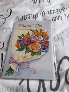 Thankyou Greeting Card BNIP - boquet of flowers