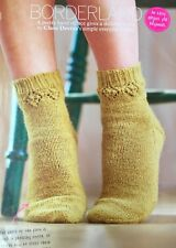 KNITTING PATTERN Ladies Lace Socks Diamond Lace Band Stocking Stitch PATTERN
