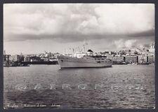 MOTONAVE DI LINEA ARBOREA 01 CAGLIARI - NAVE MARINA SHIP Cartolina FOT viag 1965