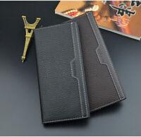 Billfold Men's Bifold Leather Wallet ID Credit Card Holder Purse Long Clutch