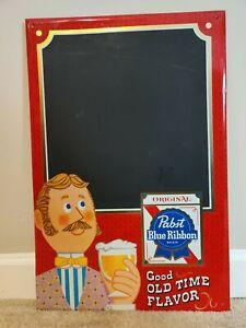 Vintage Tin PABST BLUE RIBBON PBR Chalkboard Beer Sign Metal Milwaukee WI