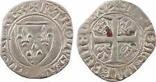 Charles VI, blanc guénar,  Rouen - 12