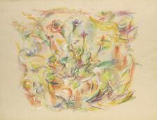 Abstrakte künstlerische Malerei mit Blumen-, Früchte- & Pflanzen-Motiv