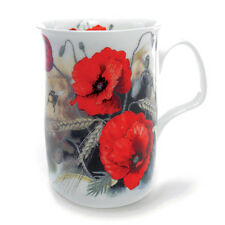 Roy Kirkham Traditional Red Poppy Bone China Mug Tea Coffee Drink Kitchen New