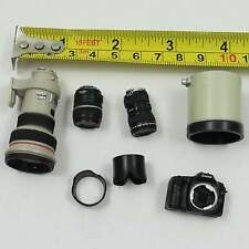 █ 1/6 Toys Scale Canon EOS-1 DSLR Camera with 3 Lens Miniature Doll Figure Hot