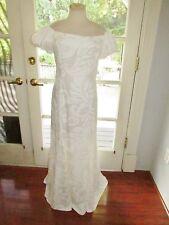 NEW WHITE HAWAIIAN MUUMUU HULA WEDDING OFF THE SHOULDER DRESS SIZE 15-16