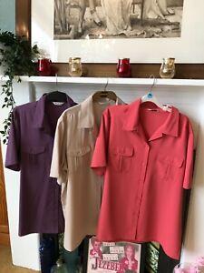 BNWT Ladies Berkertex short sleeve blouse shirt 18 fit 16 18 (3 colour choices)