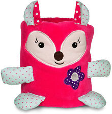 Izzy and Owie Pink Fox Blanket Roll Baby Girl Toddler NEW Adorable Nursery Gift