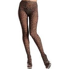 Nylon Leopard Print Tights Adult Womens Pantyhose Hosiery Accessory