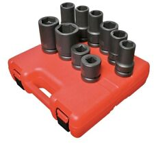 "SUNEX #5690A: 1"" Dr 10pc SAE & Metric Wheel Impact Socket Set"
