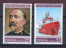 SPAIN ESPAÑA 1991 MNH SC.2665/66 Ibañez cartographer and Antarctic Treaty