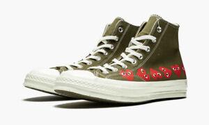 CONVERSE x COMME des GARCONS Unisex Green Chuck 70 Hi Sneakers M 11 / W 13 NIB