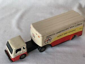 North American Van Lines,World Wide Movers 5741B Truck & Trailer,vintage!Japan!