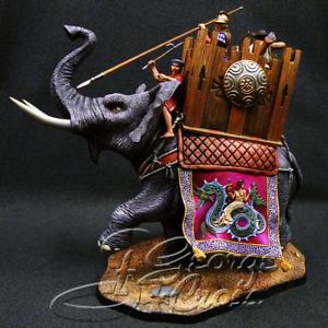Painted Tin Toy Soldier Seleucid War Elephant 54mm 1/32 Miniature