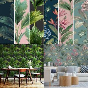 Tropical Jungle Palm Leaf Realisitc Leaves Kailani Feature Belgravia Wallpaper