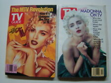 1991 (2) TV Guide Magazines Madonna Photograph Covers