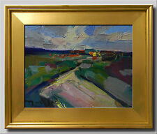 JOSE TRUJILLO FRAMED OIL ON CANVAS EXPRESSIONIST ABSTRACT LANDSCAPE MODERNIST