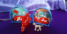 One Vintage Disney 101 Dalmations Mini Compact Playset / Necklace Locket