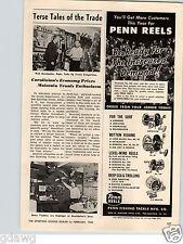 1960 PAPER AD Penn Fishing Reels Reel Senator Surfmaster Master Mariner Squidder
