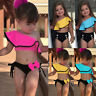 Baby Girls Toddler Kid Halter Swimwear Swimsuit Bikini Set Bathing Suit Tankini
