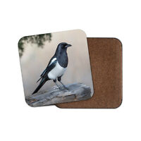 Beautiful Magpie Bird Coaster - Birds Crow Raven Twitcher Dad Cool Gift #8765