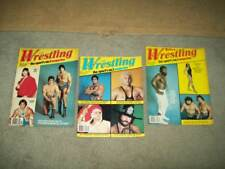 3 vtg THE RING'S WRESTLING 1982 Bruno WWF NWA Andre BACKLUND  WWE awa VON ERIC